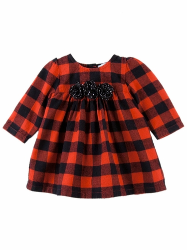 Le Top Baby  Mad For Plaid Red & Black Checker Dress