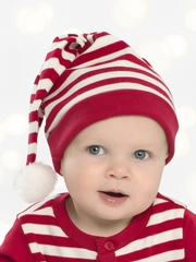 Le Top Baby  Reindeer Cheer Red Stripe Long Cap
