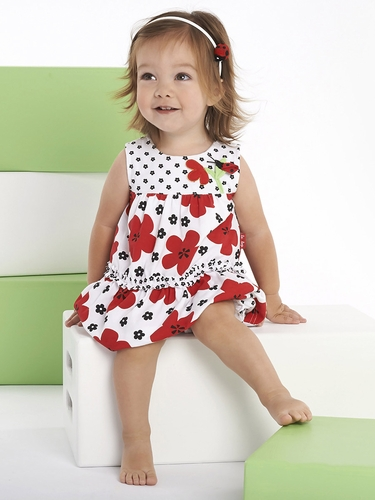 Le Top Love Bug Big Flower Tiered Dress