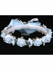 Light Blue Rose Wreath