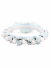 Light Blue Spring Hair Wreath