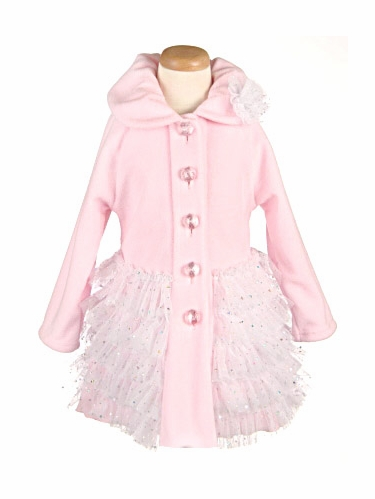Light Pink Ballerina Coat w/ Ruffles