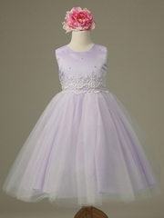 Lilac Cinderella Tulle Flower Girl Dress