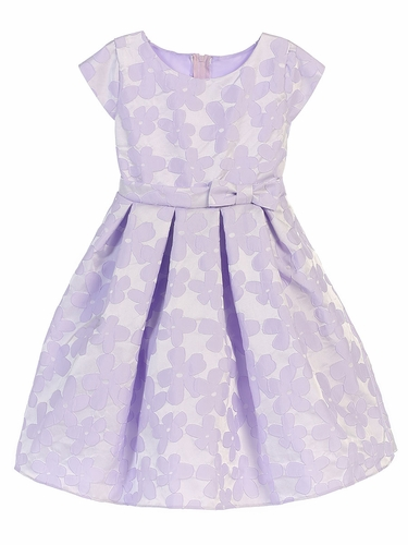 Lilac Raised Daisy Jacquard W/ Bow