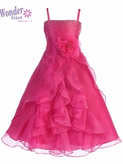 Lily Organza Fuchsia Dress