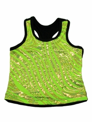 Lime Zebra Metallic Top