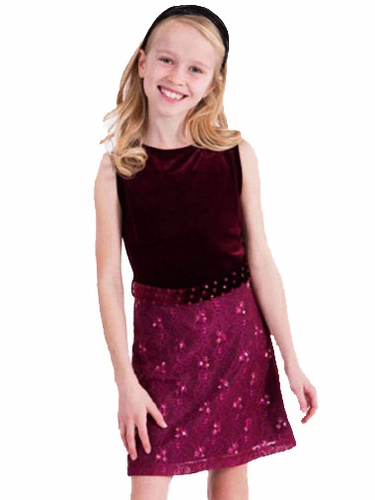 Limeapple Royal Couture Burgundy Naples Lace Dress