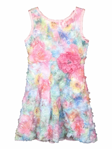 Lipstik Girls Pink Floral Novelty Dress