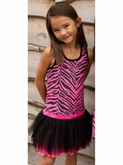 Lipstik Girls Sequin Mesh Tutu Dress