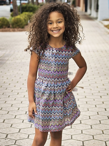 Lipstik Girls Sequins Knit Dress