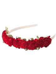 Little Adventures Flower Red Headband