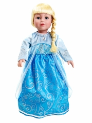 "Little Adventures Ice Princess 18"" Doll Dress"