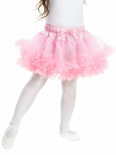 Little Adventures Pink Fluffy Lace Tutu