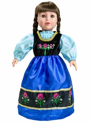 "Little Adventures Scandinavian Princess 18"" Doll Dress"
