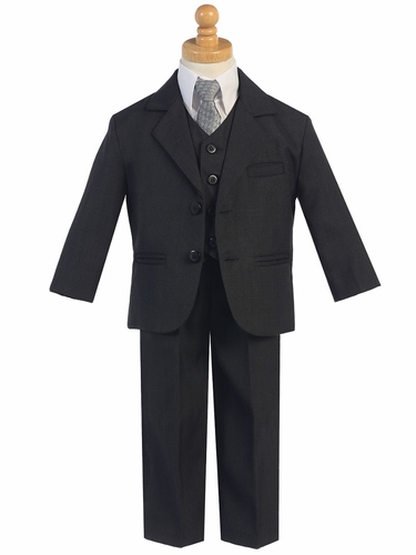 Little Gents Dark Gray 5 Piece Suit