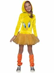 Looney Tunes Tweety Hooded Tutu Dress Costume