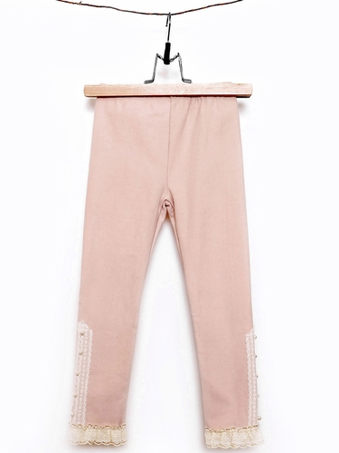 Mae Li Rose Blush Fleece Lined Pearl Legging