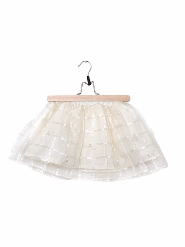 Mae Li Rose Off White Pearl Ribbon Skirt
