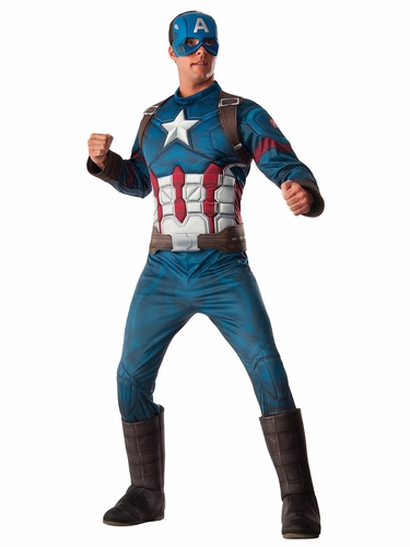 Marvel Civil War Captain America Adult Deluxe