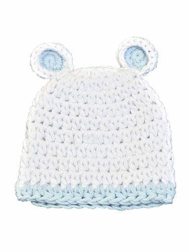 Melondipity White And Blue Sugar Bear Hat
