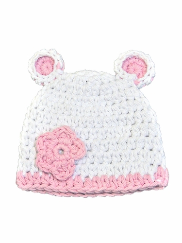 Melondipity White And Pink Sugar Bear Hat