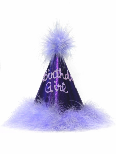 Metallic Purple 'Birthday Princess' Party Hat
