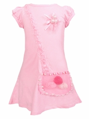 Mia Belle Baby Pink Dress w/ Illusion Purse