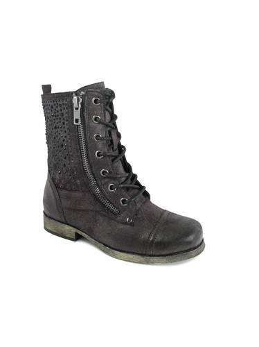 Mia Fashions Black Courtney Lace Up Boot