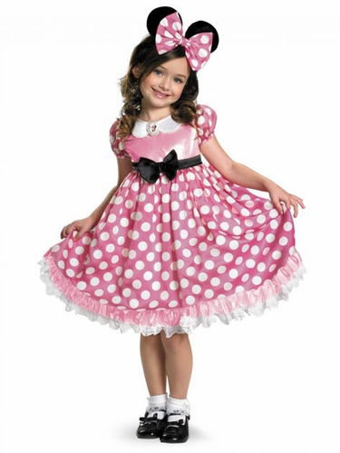 Mickey Mouse Clubhouse Pink Minnie Glow In The Dark Dot Dress