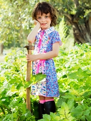 Mim-Pi Into the Garden Collar Dress