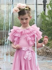 Mim-Pi Light Pink Tulle Shoulder Cape