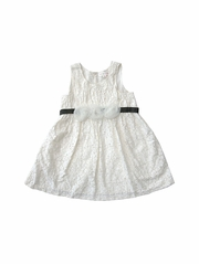 Mimi & Maggie All Over Lace Dress w/ Ribbon Tie