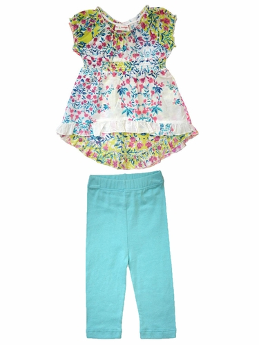 Mimi & Maggie Baby Doll Blue Flowers 2PC Set