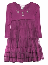 Mimi & Maggie Burgundy Princess Ballerina Dress