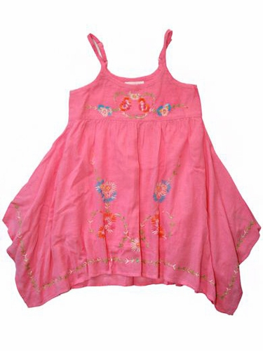 Mimi & Maggie Charmed Life Rose Embroidered Gauze Dress