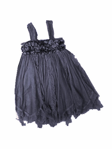Mimi & Maggie 'Cluster Roses' Charcoal Dress