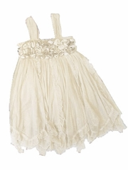 Mimi & Maggie 'Cluster Roses' Ivory Dress