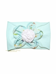 Mimi & Maggie Daisies Collection Aqua  Headband