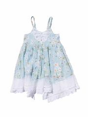 Mimi & Maggie Daisies Collection Aqua Twirl Dress