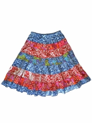 Mimi & Maggie 'Earth Flowers' Long Tiered Skirt
