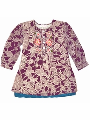 Mimi & Maggie 'Fall Festival' Tunic w/ Wool Embroidery
