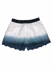 Mimi & Maggie Indigo Beach Collection Ocean Waters Dip Dyed Short