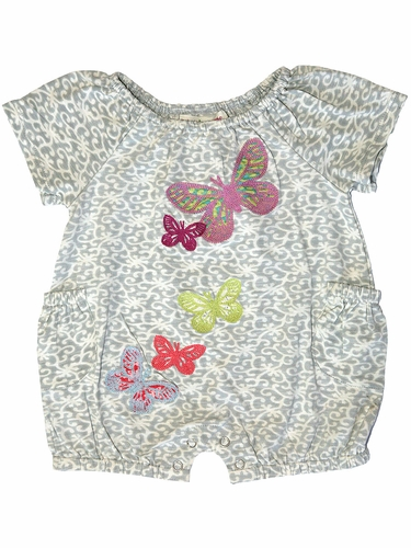 Mimi & Maggie Red Egg & Ginger Conversation Romper