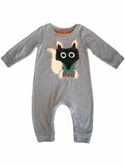 Mimi & Maggie Red Egg & Ginger Gray Mr. Fox Bodysuit