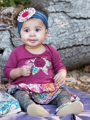 Mimi & Maggie Rustic Canyon Babies Lotus Leaves Dress & Leggings