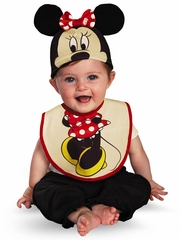 Minnie Mouse Bib & Hat