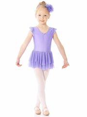 Mondor Ballerina Lilac Lolly Short Sleeve Dress