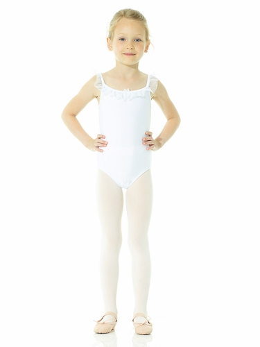 Mondor Ballerina Snow Queen White Camisole Leotard
