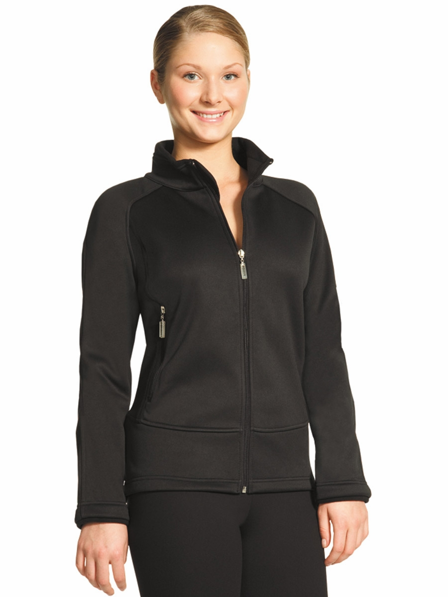 Black Microfiber Fleece Fitted Jacket