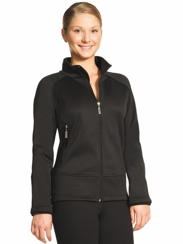 Mondor Black Microfiber Fleece Fitted Jacket